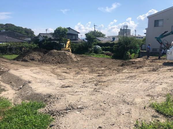 アパート建設地 造成進捗サムネイル